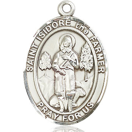 St Isidore the Farmer<br>Oval Patron Saint Series<br>Available in 3 Sizes