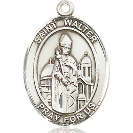 St Walter of Pontnoise<br>Oval Patron Saint Series<br>Available in 3 Sizes