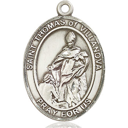 St Thomas of Villanova<br>Oval Patron Saint Series<br>Available in 3 Sizes