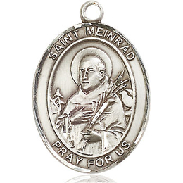 St Meinrad of Einsideln<br>Oval Patron Saint Series<br>Available in 3 Sizes
