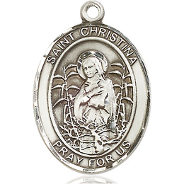 St Christina the Astonishing<br>Oval Patron Saint Series<br>Available in 3 Sizes