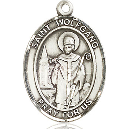 St Wolfgang<br>Oval Patron Saint Series<br>Available in 3 Sizes