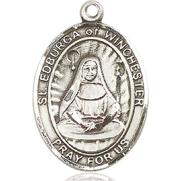 St Edburga of Winchester<br>Oval Patron Saint Series<br>Available in 3 Sizes