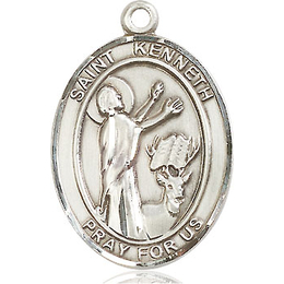 St Kenneth<br>Oval Patron Saint Series<br>Available in 3 Sizes