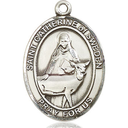 St Catherine of Sweden<br>Oval Patron Saint Series<br>Available in 3 Sizes