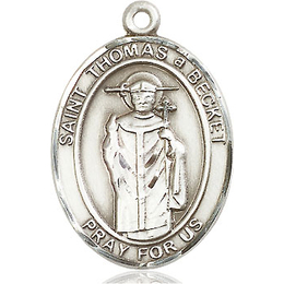 St Thomas A Becket<br>Oval Patron Saint Series<br>Available in 3 Sizes