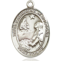 St Catherine of Bologna<br>Oval Patron Saint Series<br>Available in 3 Sizes