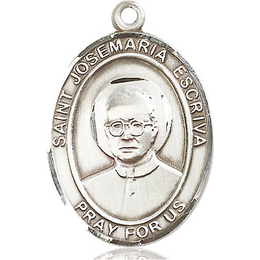 St Josemaria Escriva<br>Oval Patron Saint Series<br>Available in 3 Sizes