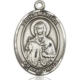 St Marina<br>Oval Patron Saint Series<br>Available in 3 Sizes