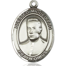 Blessed Miguel Pro<br>Oval Patron Saint Series<br>Available in 2 Sizes