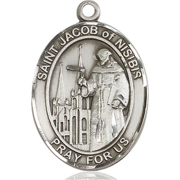 St Jacob of Nisibis<br>Oval Patron Saint Series<br>Available in 2 Sizes