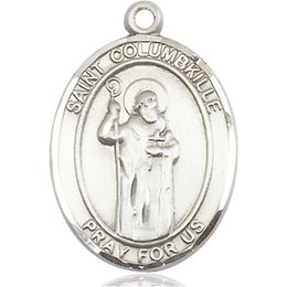 St Columbkille<br>Oval Patron Saint Series<br>Available in 2 Sizes