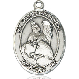 Guardian Angel Protector<br>Oval Patron Saint Series<br>Available in 2 Sizes