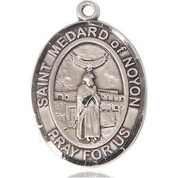 St Medard of Noyon<br>Oval Patron Saint Series<br>Available in 2 Sizes