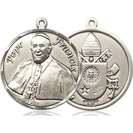 Pope Francis<br>Round Patron Saint Series<br>Available in 2 Sizes