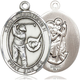 St Christopher Golf<br>Oval Patron Saint Series<br>Available in 3 Sizes
