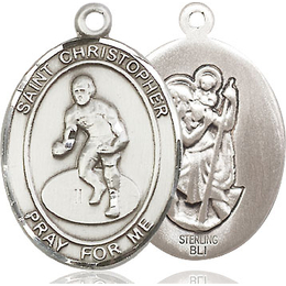 St Christopher Wrestling<br>Available in 3 Sizes