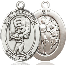 St Sebastian Baseball<br>Oval Patron Saint Series<br>Available in 2 Sizes