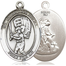 Guardian Angel Baseball<br>Oval Patron Saint Series<br>Available in 2 Sizes