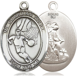 Guardian Angel Basketball<br>Oval Patron Saint Series<br>Available in 2 Sizes