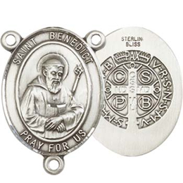 Saint Benedict<br>8008CTR - 3/4 x 1/2<br>Rosary Center