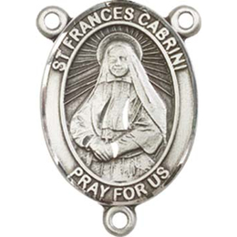 Saint Frances Cabrini<br>8011CTR - 3/4 x 1/2<br>Rosary Center
