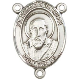 Saint Francis de Sales<br>8035CTR - 3/4 x 1/2<br>Rosary Center