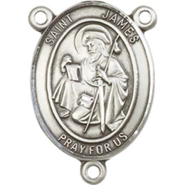 Saint James the Greater<br>8050CTR - 3/4 x 1/2<br>Rosary Center