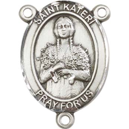 Saint Kateri Tekakwitha<br>8061CTR - 3/4 x 1/2<br>Rosary Center