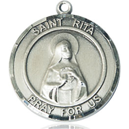 St Rita of Cascia<br>Round Patron Saint Series<br>Available in 2 Sizes
