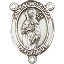 Saint Scholastica<br>8099CTR - 3/4 x 1/2<br>Rosary Center