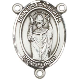 Saint Stanislaus<br>8124CTR - 3/4 x 1/2<br>Rosary Center