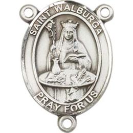 Saint Walburga<br>8126CTR - 3/4 x 1/2<br>Rosary Center