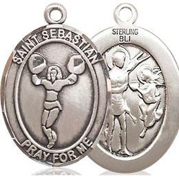 St Sebastian Cheerleading<br>Oval Patron Saint Series<br>Available in 3 Sizes