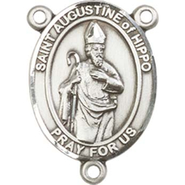 Saint Augustine of Hippo<br>8202CTR - 3/4 x 1/2<br>Rosary Center