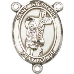 Saint Stephanie<br>8228CTR - 3/4 x 1/2<br>Rosary Center