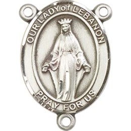 Our Lady of Lebanon<br>8229CTR - 3/4 x 1/2<br>Rosary Center