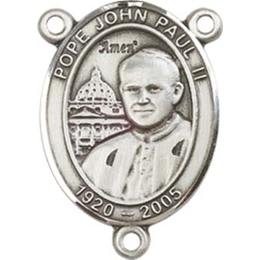 Saint John Paul II<br>8234CTR - 3/4 x 1/2<br>Rosary Center