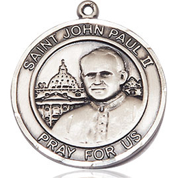St John Paul II<br>Round Patron Saint Series<br>Available in 2 Sizes