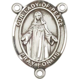 Our Lady of Peace<br>8245CTR - 3/4 x 1/2<br>Rosary Center