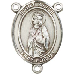 Saint Alice<br>8248CTR - 3/4 x 1/2<br>Rosary Center