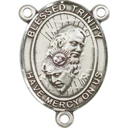 Blessed Trinity<br>8249CTR - 3/4 x 1/2<br>Rosary Center