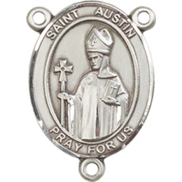 Saint Austin<br>8256CTR - 3/4 x 1/2<br>Rosary Center