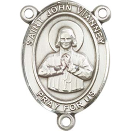 Saint John Vianney<br>8282CTR - 3/4 x 1/2<br>Rosary Center