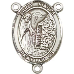 Saint Fiacre<br>8298CTR - 3/4 x 1/2<br>Rosary Center