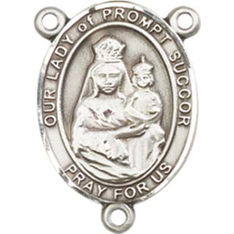 Our Lady of Prompt Succor<br>8299CTR - 3/4 x 1/2<br>Rosary Center