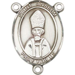 Saint Anselm of Canterbury<br>8342CTR - 3/4 x 1/2<br>Rosary Center