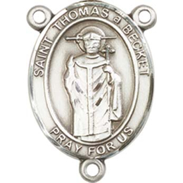 Saint Thomas A Becket<br>8344CTR - 3/4 x 1/2<br>Rosary Center