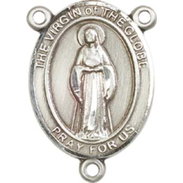 Virgin of the Globe<br>8345CTR - 3/4 x 1/2<br>Rosary Center