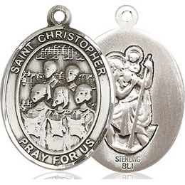 St Christopher Choir<br>Oval Patron Saint Series<br>Available in 3 Sizes